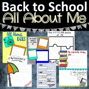 Back to School All About Me Booklet!