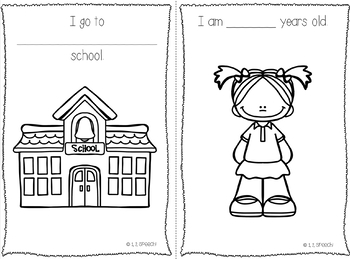 Back to School All About Me Booklet
