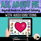 Back to School All About Me Boom Cards for Distance Learning