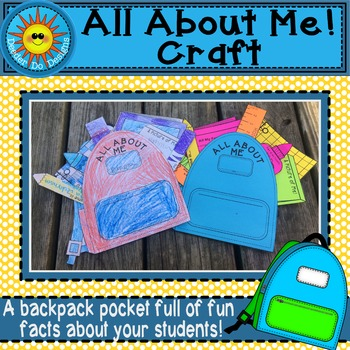 Back To School All About Me Backpack Craft