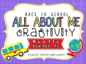 Back to School All About Me Craftivity- {BUNDLE- GRADES 1-6}