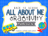 Back to School All About Me Craftivity- Fifth Grade