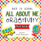 Back to School All About Me Craftivity- First Grade