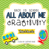 Back to School All About Me Craftivity- Third Grade