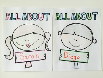 Back to School Craftivity: All About Me Bulletin Board Display