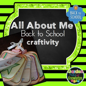"""Back to School - All About Me Craftivity - """"We Stick Together"""""""