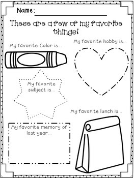 Back to School All About Me- FREEBIE