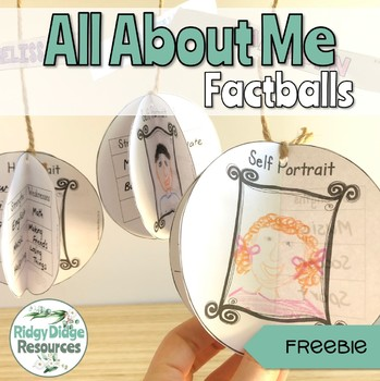Back to School All About Me Factballs Editable