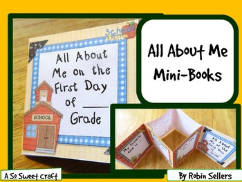Back to School: {All About Me First Day of School Mini-Book}