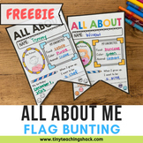 Back to School All About Me Flag Bunting Freebie (US, UK,