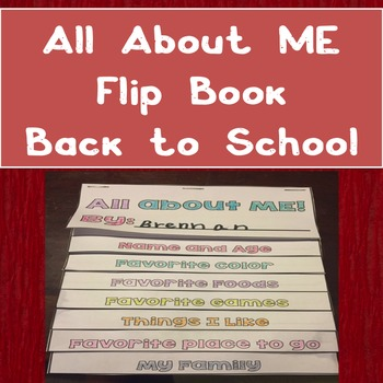 Back to School: All About Me Flip Book