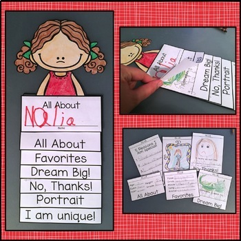 Back to School All About Me Flip Book Activity