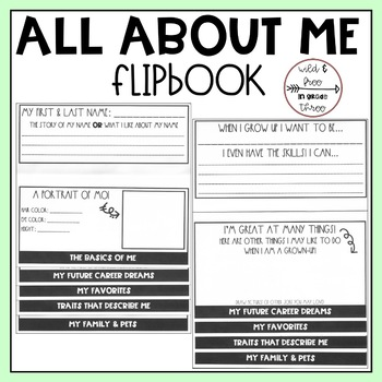 Back to School: All About Me Flip Book Activity