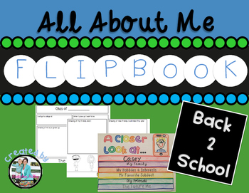 Back to School All About Me Flipbook