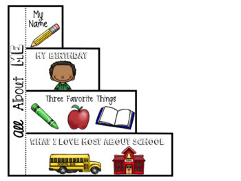 Back to School All About Me Foldable