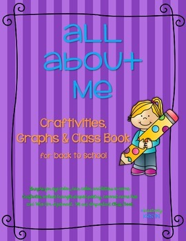 Back to School All About Me  - Graphs 'n Craftivities {pap