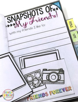 Back to School All About Me Interactive Mini Flipbook