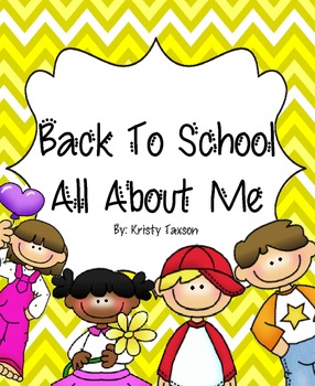 Back-to-School All About Me K-3 Book