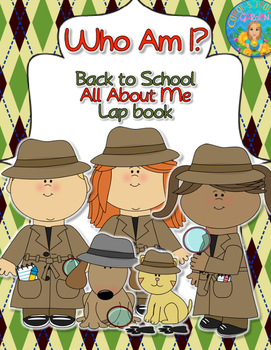 Back to School All About Me Lap Book with a Detective Them