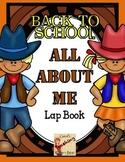 Back to School All About Me Lap Book with a Western Theme Common Core Inspired