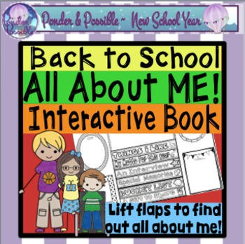 Back to School ~ 'All About Me' Lap Flip Book