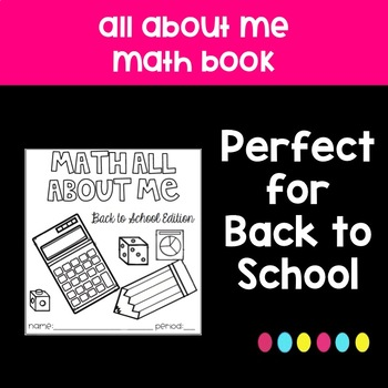 Back to School All About Me Math Book