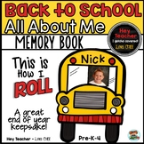 All About Me Memory Book: Back to School, First Week Activities