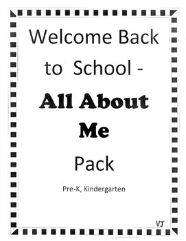Back to School, All About Me Pack