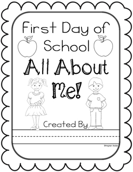 All About Me Packet for the First Day of School!