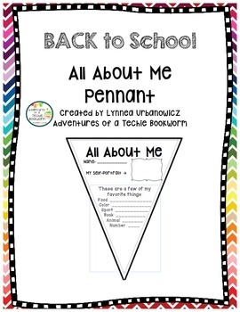 Back to School- All About Me Pennant