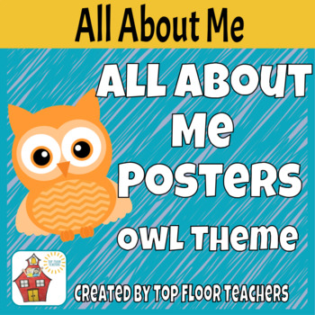 Back to School All About Me Poster - Owl Theme