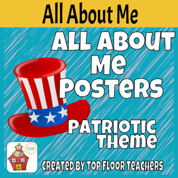 Back to School All About Me Poster Patriotic Theme