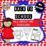 Back to School - All About Me Posters