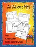 All About Me - PreK, Kindergarten, 1st Grade, 2nd Grade