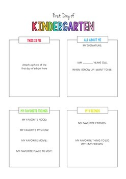 "Back to School ""All About Me"" Printable"