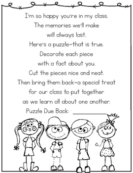 Back to School All About Me Puzzle {FREEBIE!}