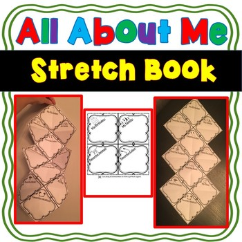 Back to School - All About Me Stretch Book- Foldable- Accordion Book