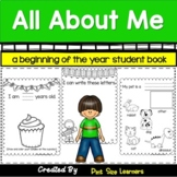 All About Me Book | Beginning of Year Student Assessment Kindergarten and 1st