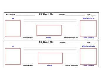 """Back to School """"All About Me"""" Student Desk Name Plate"""