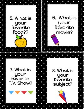 Back to School All About Me Task Cards!