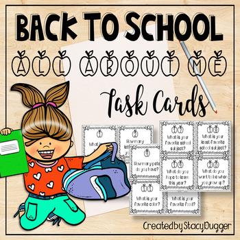 Back to School All About Me Task Cards