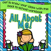 Back to School All About Me Workbook