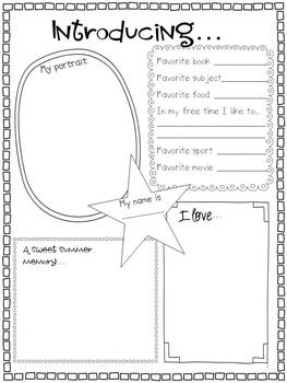 Back to School: All About Me {Writing Activity & Craft}