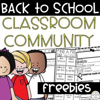 Back to School Classroom Community Activities