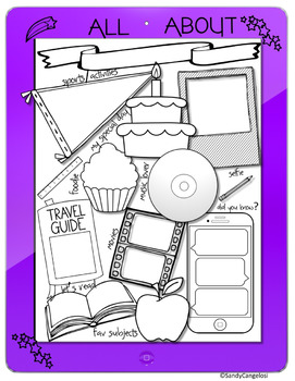 Back to School: All About Me iPad Theme