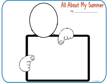 "Back to School- ""All About My Summer ""Class Book"