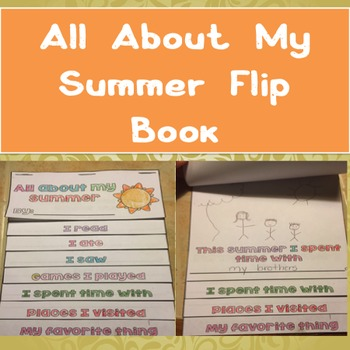 Back to School: All About My Summer Flip Book