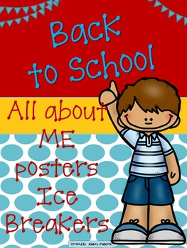 Back to School All about Me posters and Icebreakers