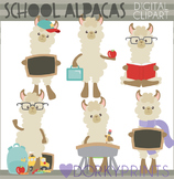 Back to School Alpaca Clipart