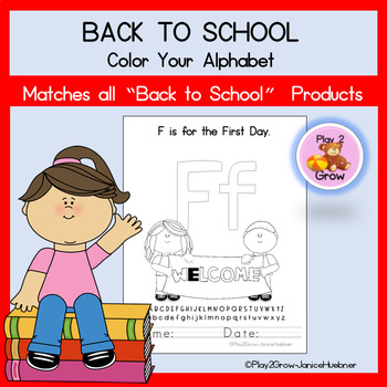 Back to School Alphabet Coloring Book